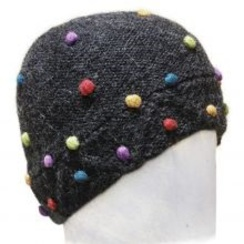Dotted Knit Alpaca Beanie