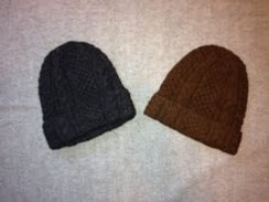 Photo of Classic Cable Knit Hat - Dark Brown