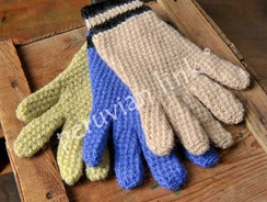 Photo of BASKET WEAVE KNIT GLOVES