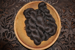 Photo of Bay Black yarn (100% Suri)