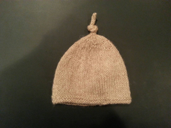 Photo of Hand-knit Newborn Baby Beanie