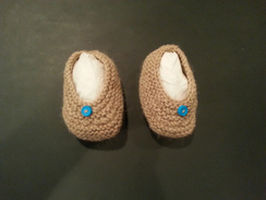 Photo of Hand-knit Newborn Baby Booties