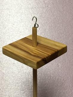 Olivewood drop spindle 2