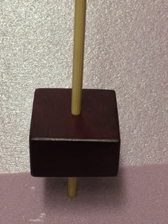 Purpleheart support spindle