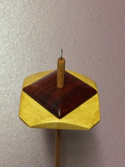 Yellowheart/Padauk drop spindle