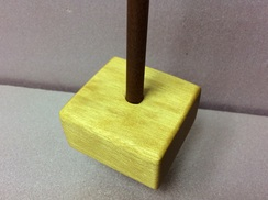 Yellowheart support spindle