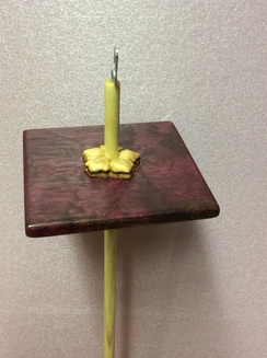 Purpleheart/Posey drop spindle