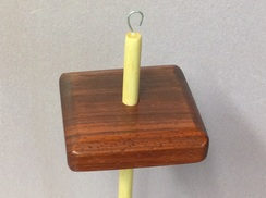 Padauk drop spindle 3