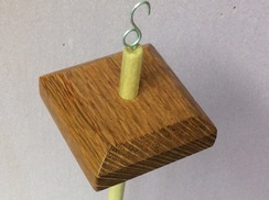 Lacewood drop spindle 3