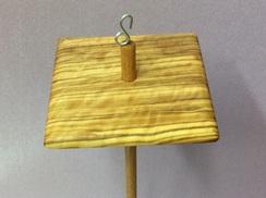 Olivewood drop spindle 4