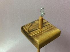 Olivewood drop spindle 9