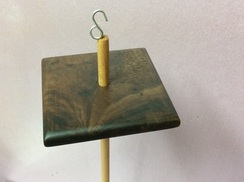 Walnut drop spindle