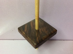 Walnut support spindle