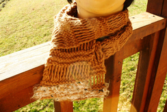 Photo of Hand Knit Alpaca/Wool Scarf