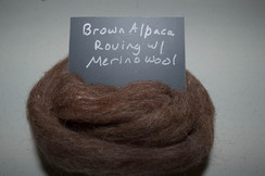 Photo of Brown Alpaca Roving w/ Merino Wool