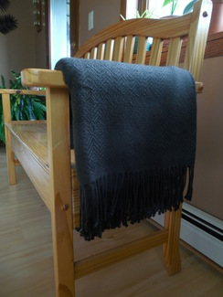 Photo of Alpaca throw - Chocolate brown