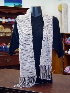 Hand Crochet Tweed Scarf-Includes Shpg