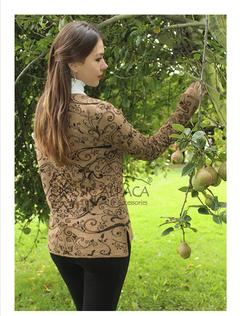 SALE, Full Embroidered Sweater Brown