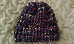 CHILD's Knit Toboggan Hat w/cuffed brim