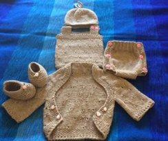 Photo of Eyelet Pattern Baby Girls Layette Set