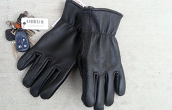 Photo of Alpaca Filled Buckskin Leather Gloves
