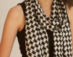 Photo of Houndstooth Baby Alpaca Scarf Heavy Wt.