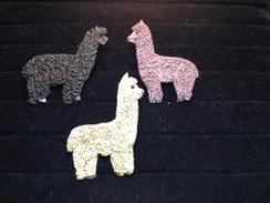 Unique Hand sculpted polyclay alpaca pin