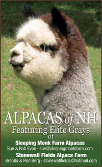 ALPACAS of NH at SLEEPING MONK FARM   - Logo