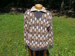Men's Fleece Pullover 100% Alpaca