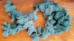 Photo of Alpaca Corkscrew Holiday Scarf