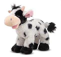 Checkers Cow Stuffed Farm Animal