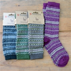 Photo of FAIR ISLE ALPACA CREW SOCKS