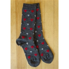 NOVELTY PATTERNED HEART SOCKS