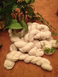 KENZIE white yarn, SUPERFINE