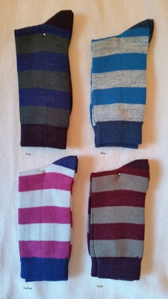 Tri-Color Striped Socks
