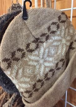 Alpaca Hat - Snowflake Knit