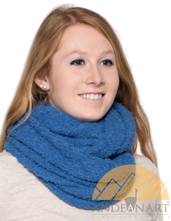 Photo of Boucle Infinity Alpaca Scarf