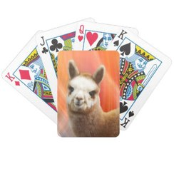 Colorful Alpaca Bicycle Playing Cards