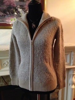Womens zip sweater