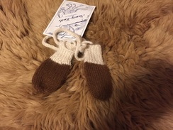 Photo of Hand Knit Baby Mittens