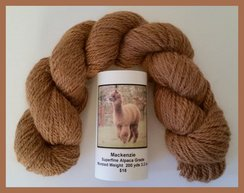 Photo of Alpaca Yarn Dark Fawn Worsted 200 yds.