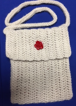 Photo of White Alpaca Purse - Large Size