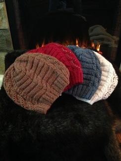 beaded heart alpaca hat