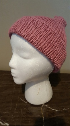 Photo of Double Knit Hat 100% Alpaca