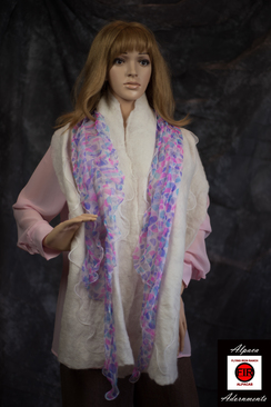 Alpaca and Silk Scarf