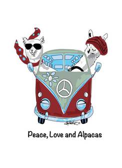 Photo of Tee Shirt - Peace, Love and Alpacas