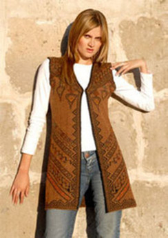 Reversible Knitted Alpaca Vest