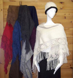 Photo of Triangle Shawls with Roses