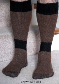 High Calf Alpaca Boot Socks - size L