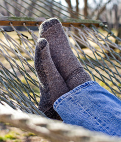 Alpaca Survival Socks - L